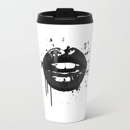 Black and white glamour fashion lips Travel Mug