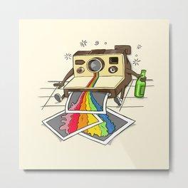Drunk Camera Metal Print
