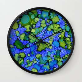 Algae Splatter Wall Clock