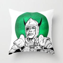 Clovis, the Undead Warrior Queen of Green Falls Tomb Throw Pillow