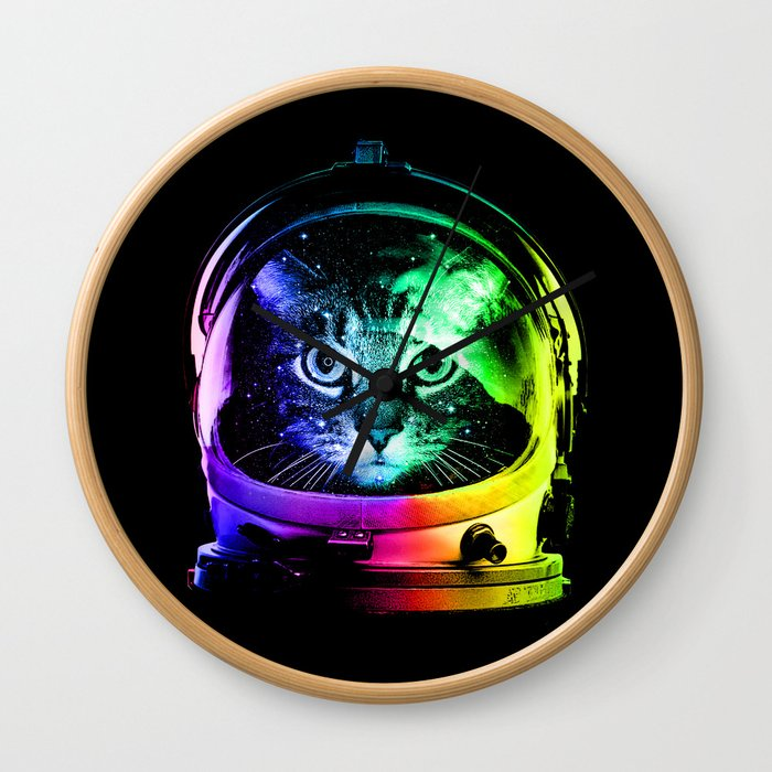 Astronaut Cat Wall Clock