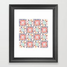 Stargazing Daisies Framed Art Print