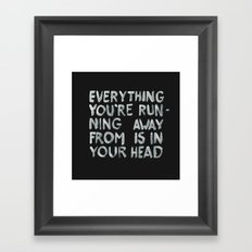 In your head Framed Art Print