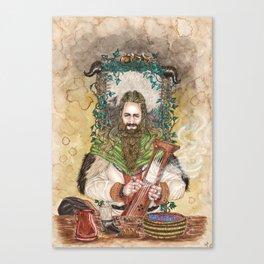 Bragi the bard of the Gods Canvas Print
