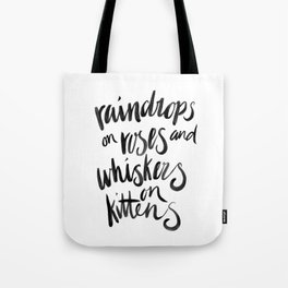 My Favourite Things - Raindrops Tote Bag