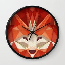 the glaring fox Wall Clock