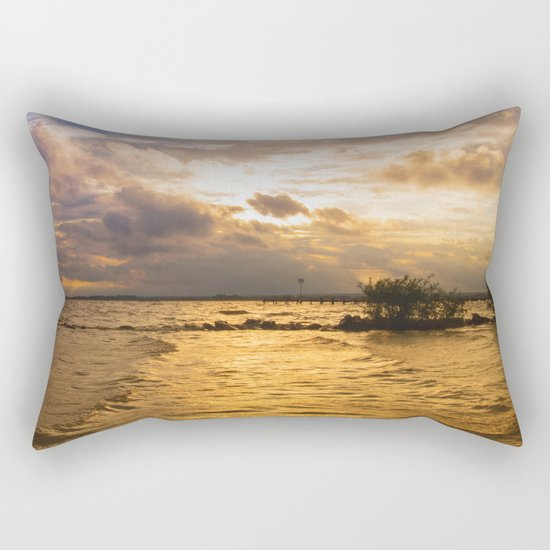Weather over the lake Rectangular Pillow