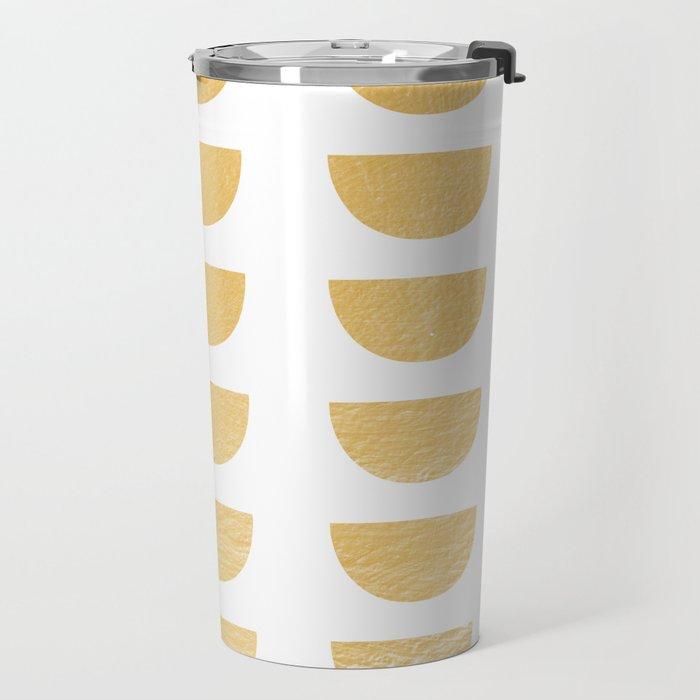 Lena Gold Half Moon Abstract Travel Mug