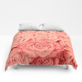 Some People Grumble - Living Coral Roses Comforters