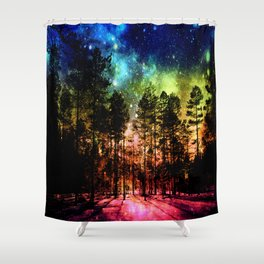 One Magical Night ( Rainbow ) Shower Curtain