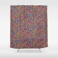 mosaic Shower Curtains featuring Mosaic by Juliana Kroscen
