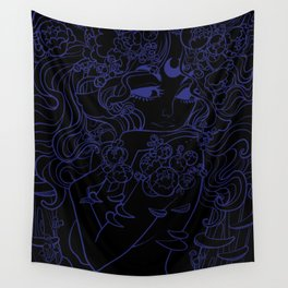 Ghost Fungi - Black Out version Wall Tapestry