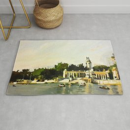 The Lake at Buen Retiro Park Rug