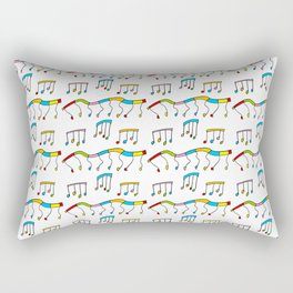 Colors and music--music,melody,fun,pleasure, rhythm, dance, art,sound,pitch,harmony,musical Rectangular Pillow