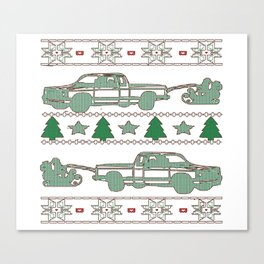 Trucker Christmas Canvas Print