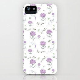 Pink Peonies With Botanical iPhone Case