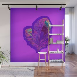 Lee's Purple Feather Wall Mural