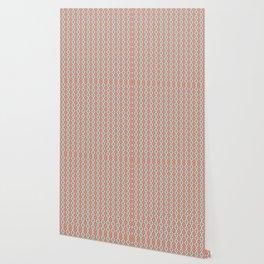 Coral Diamond Stripe Pattern Wallpaper