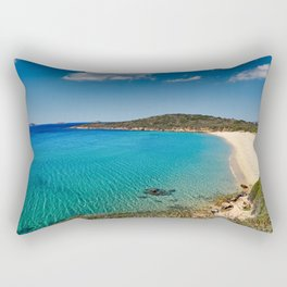 Chrisi Ammos is the most popular beach in Andros, Greece Rectangular Pillow