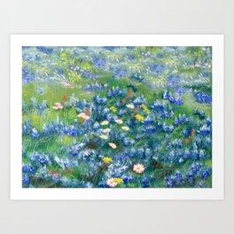 Spring Flowers in Texas Art Print