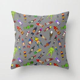 Butt of Superhero Villian - Dark Throw Pillow