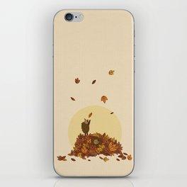 Autumn Hedgehogs iPhone Skin