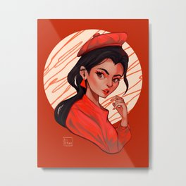 The Red Lover Metal Print