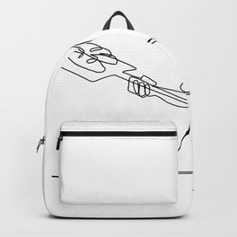 Baker With Oven Peel Continuous Line Backpack