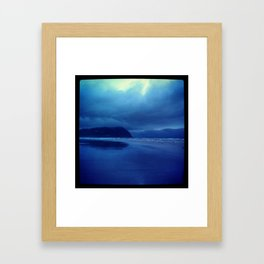 A blue kinda day Framed Art Print