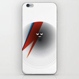 Round Bowie iPhone Skin