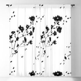 Large Daisy Design Blackout Curtain