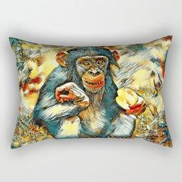 AnimalArt_Chimpanzee_20170603_by_JAMColorsSpecial Rectangular Pillow