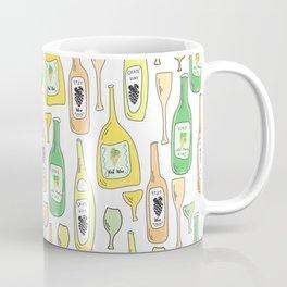 Light White. Wine proverb & pattern Coffee Mug