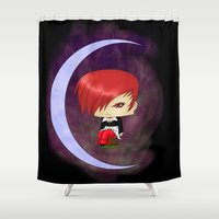 berserk Shower Curtains featuring Iori Yagami by artwaste