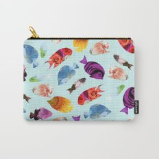 Fish shaped Flowers Carry-All Pouch