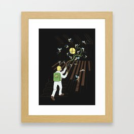 Just Another Day on the Job Framed Art Print