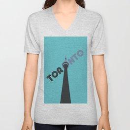 CN Tower - Toronto Unisex V-Neck