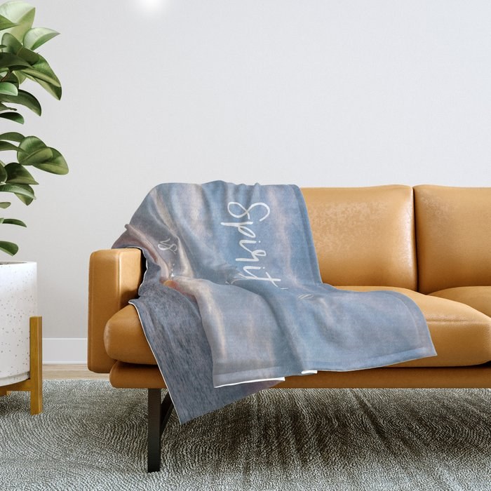 Spirit Lead me Where my Trust is Without Borders Throw Blanket