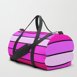 Fuchsia Pink Stripes Duffle Bag