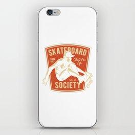 Skateboard Society iPhone Skin
