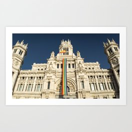 Building With LGBT Pride Flag Art Print