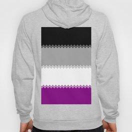 pixel pride- ace pride flag Hoody