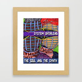 The Soul and the Synth Framed Art Print