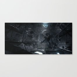 Feral Orbit - A Close Encounter Canvas Print