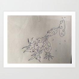 VLeesetende bloem Art Print