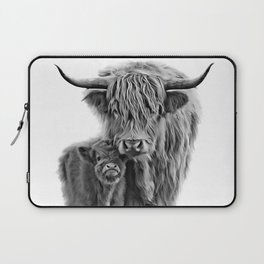 Highland Cow and The Baby Laptop Sleeve