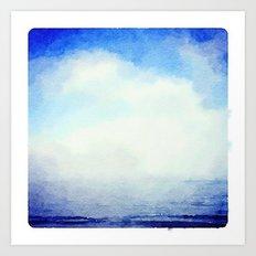 Clouds over the Ocean Art Print