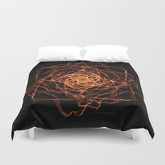 Fire Rose Duvet Cover