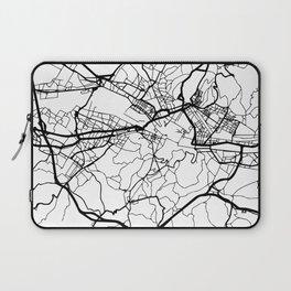 FLORENCE ITALY BLACK CITY STREET MAP ART Laptop Sleeve