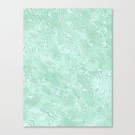Mint Green Silk Moire Pattern Canvas Print